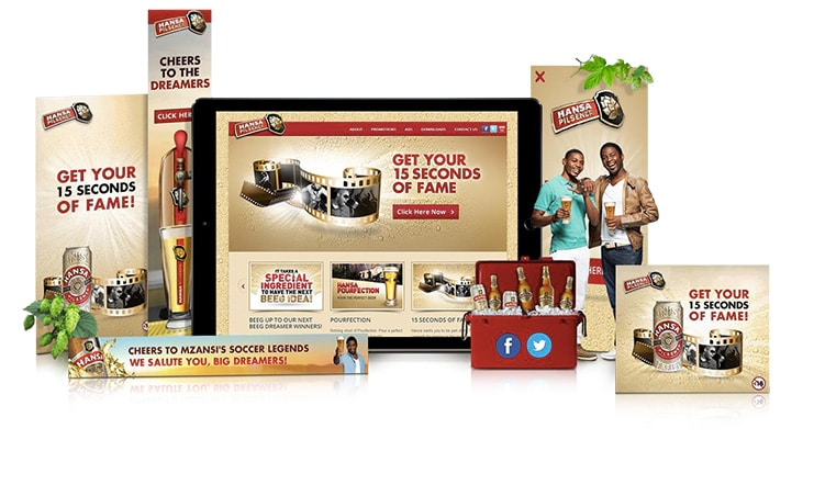 Banner ads production for Hansa Pilsener