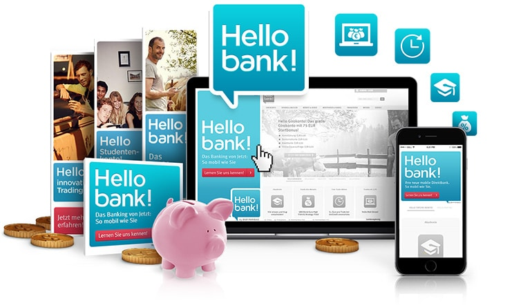 Banner ads production for Hello Bank